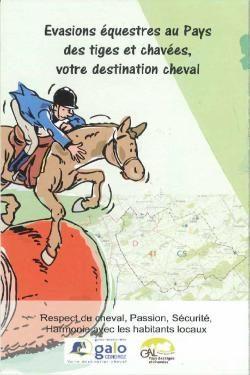 Couverture de carte avec pour titre Evasions équestres au Pays des tiges et chavées