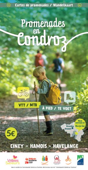 cover carte promenades en Condroz