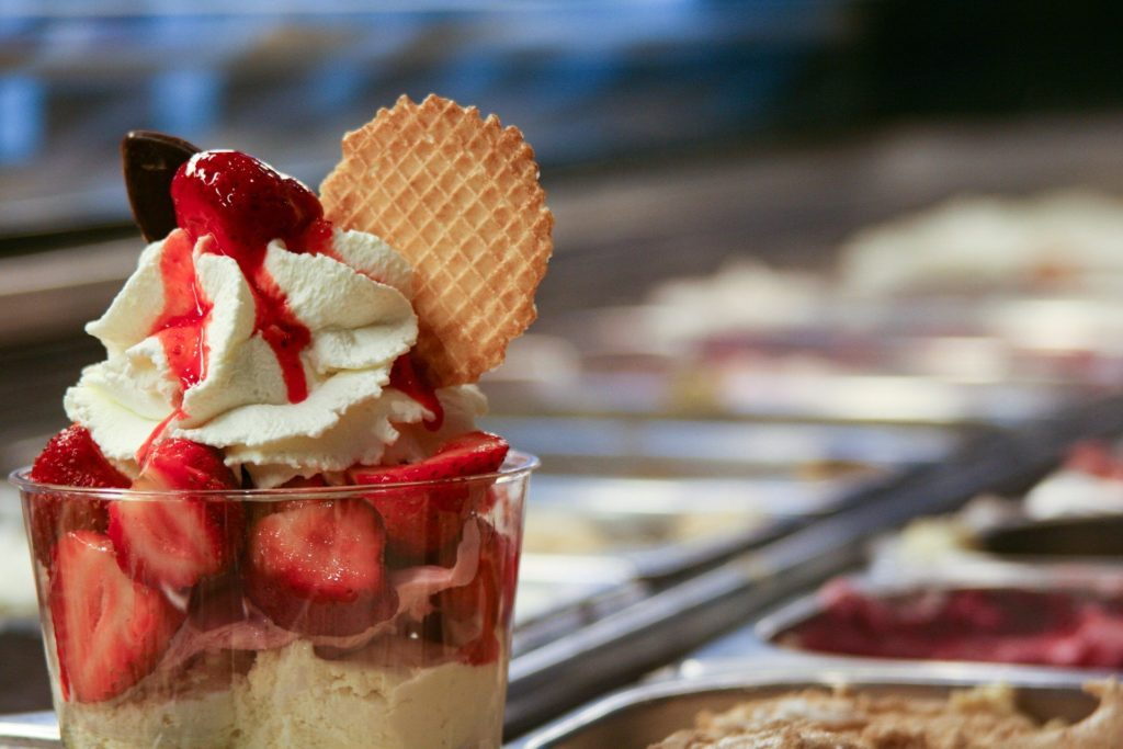 Glace artisanale fraises